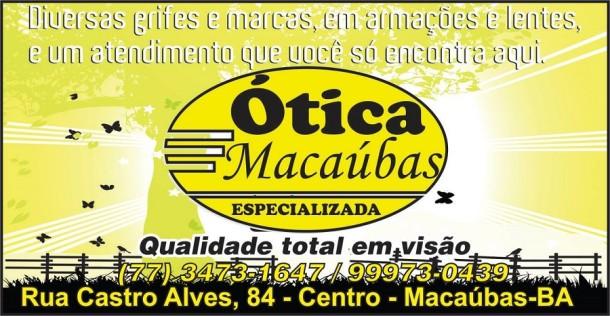 Ótica Macaúbas – Qualidade total em visão