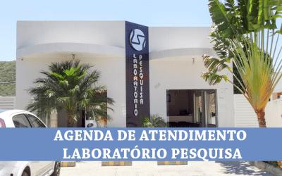 AGENDA DE ATENDIMENTO SEMANAL – MÊS DE MAIO – LABORATÓRIO PESQUISA