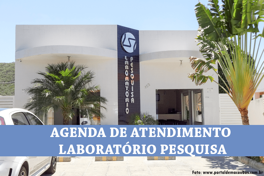 AGENDA DE ATENDIMENTO SEMANAL – MÊS DE ABRIL – LABORATÓRIO PESQUISA