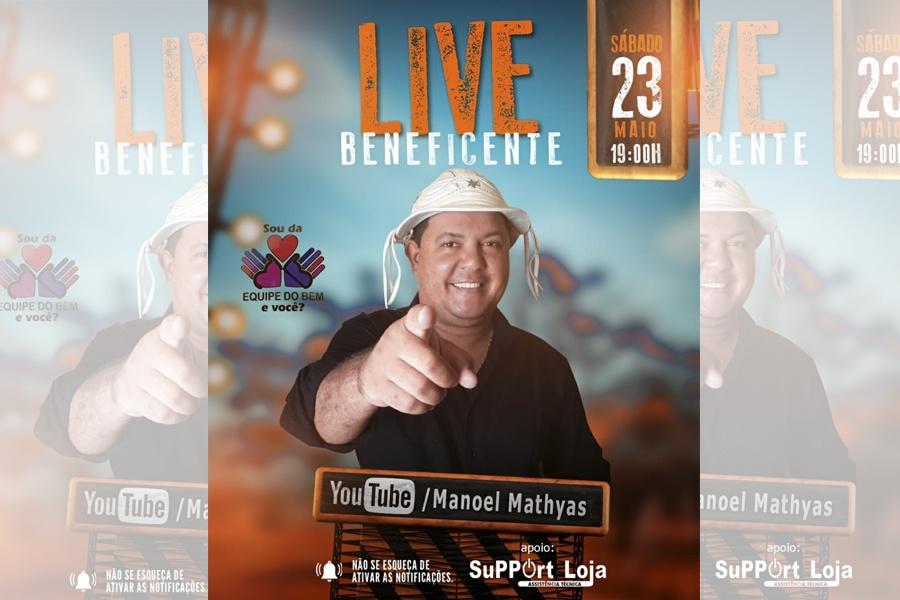 NÃO PERCA A LIVE DO FORROZEIRO MANOEL MATHYAS! NESTA SÁBADO, 23 DE MAIO
