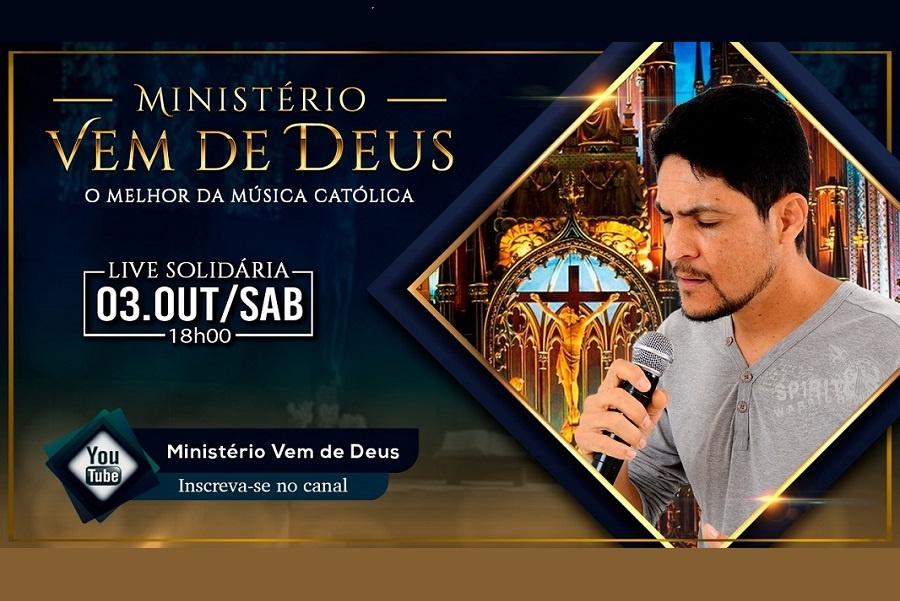ESTÁ CHEGANDO A SEGUNDA LIVE DO MINISTÉRIO VEM DE DEUS! SERÁ DIA 03 DE OUTUBRO, ÀS 18H NO YOUTUBE