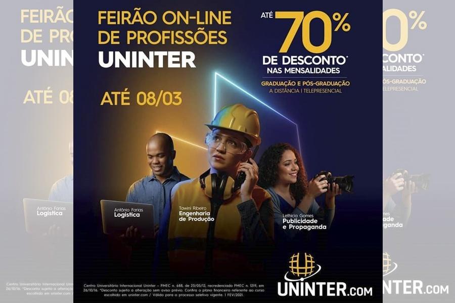 PARTICIPE DO FEIRÃO ONLINE DE PROFISSÕES UNINTER!