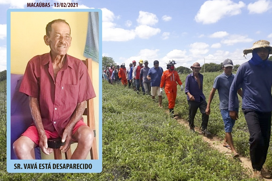 NESTE SÁBADO, 13/02 COMPLETA UMA SEMANA DO DESAPARECIDO DO SR. VAVÁ!