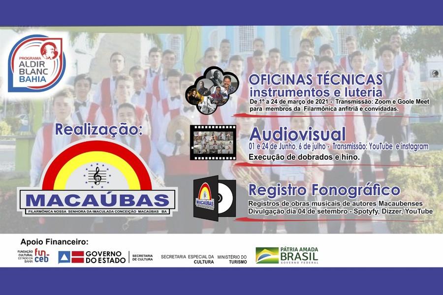 """PROJETO """"FILARMÔNICA NOSSA SENHORA DA IMACULADA CONCEIÇÃO DE MACAÚBAS"""" APRESENTA PROJETO DE FORMAÇÃO MUSICAL"""