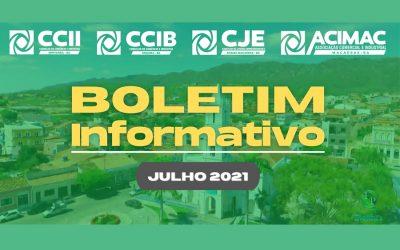 CONFIRA O BOLETIM INFORMATIVO DA ACIMAC DO MÊS DE JULHO DE 2021