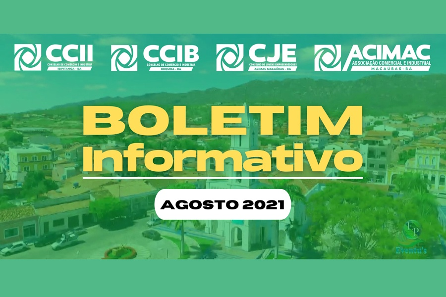 CONFIRA O BOLETIM INFORMATIVO DA ACIMAC DO MÊS DE AGOSTO DE 2021